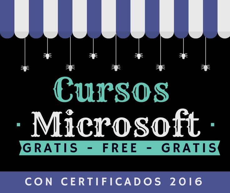 Cursos Microsoft GRATIS con certificados para desarrolladores, programadores, editores y diseñadores o amantes apasionados de la tecnología Microsoft. Free