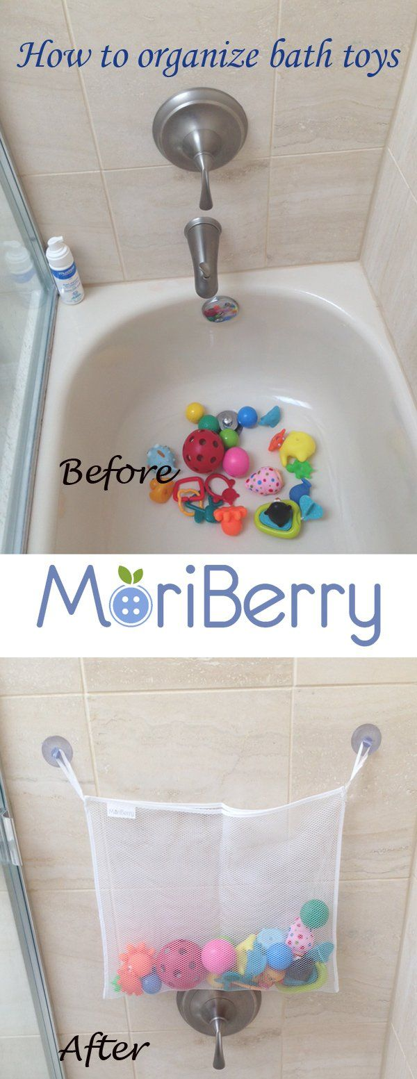 Amazon.com : Best Four Sea Squirts Baby Bath Toys PLUS Bath Toy Organizer from MoriBerry Offer Large Storage Basket for Baby Boys and Girls - Strongly Suctions to Tile and Glass - Washable Mold Resistant. Get Your Bathroom Organized Now! #bathtoys