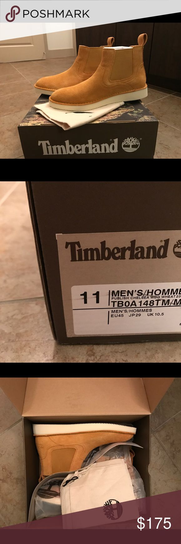 Men's Timberland Chelsea Boots Brand new, never-worn, Timberland Publish Brand Chelsea boots. Size 11, fits size 12 (men). Timberland Shoes Boots
