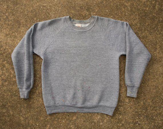 Dickie's Sweatshirt S/M - Vintage Gray Sweatshirt Small to