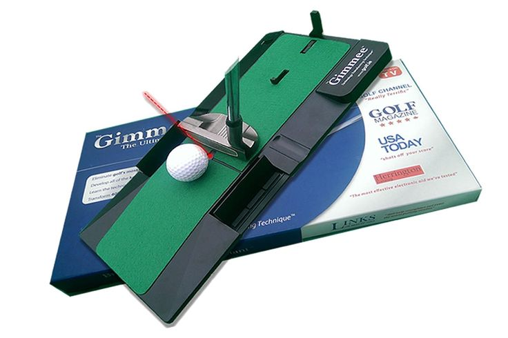 The Gimmee putting trainer will teach you the technique recommended by virtually every top player and coach!