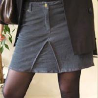 Mini-jupe jean récup' Patron couture gratuit