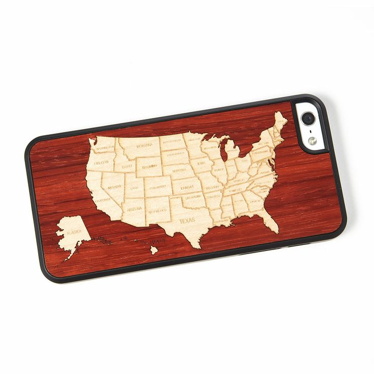 USA MAP PHONE CASE | Wood IPhone & Samsung Cover | UncommonGoods
