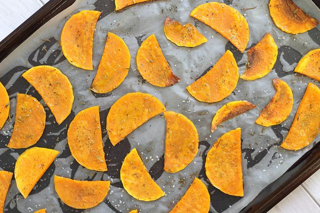 "butternut Squash chips ""so need to make these to curb these snack attacks!"" :)"