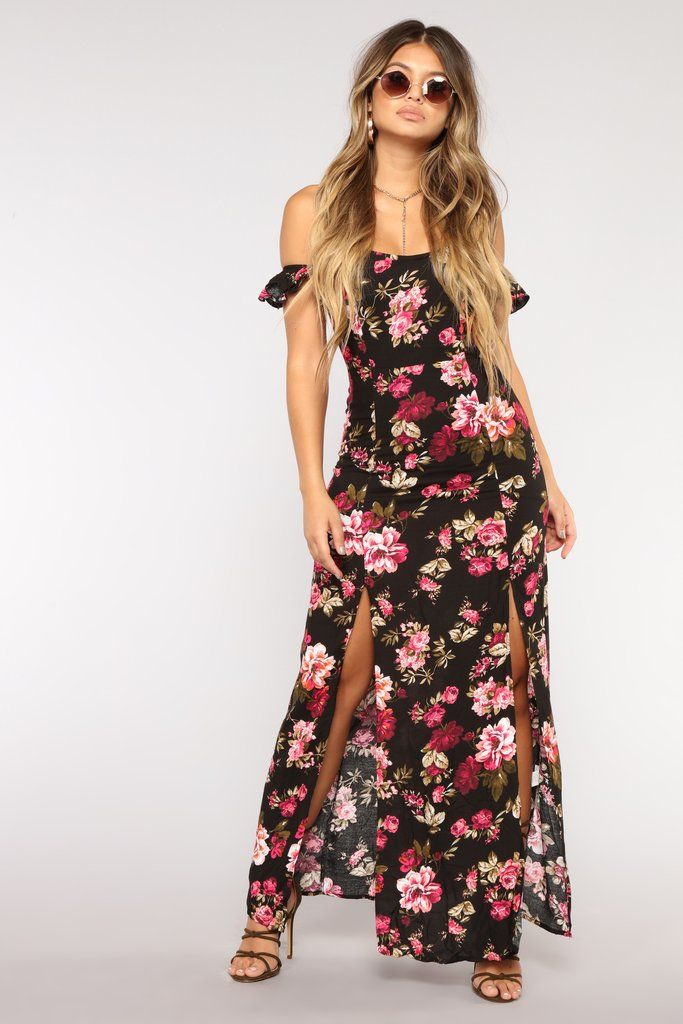 01b8e8b7a5c74 Plan A Trip Floral Dress - Black   Fashion Nova   Dresses   Dresses ...