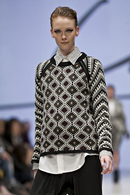 Line F/W '12 - the jacquard pattern and colours are stellar
