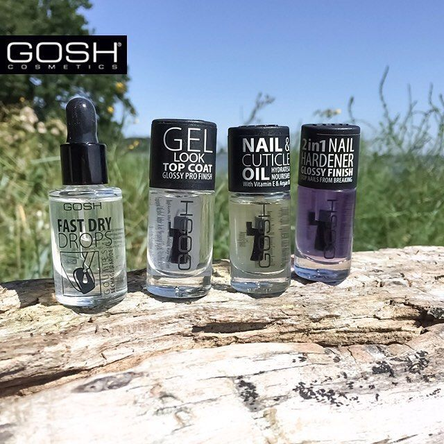 Summer may be coming to an end, but we know how to keep our GOSHIES happy! ☀️ Allow us to introduce our four new members of the GOSH Family.. Let us know which of the four you're most excited about and get the chance to WIN the whole set!  #GoshCosmetics #MakeYourImpression #GelLookTopCoat #NailAndCuticleOil #2In1NailHardener #FastDryDrops #GOSHAW15