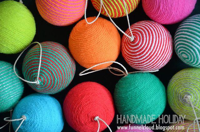 handmade holiday | yarn ball ornaments | Flickr - Photo Sharing!