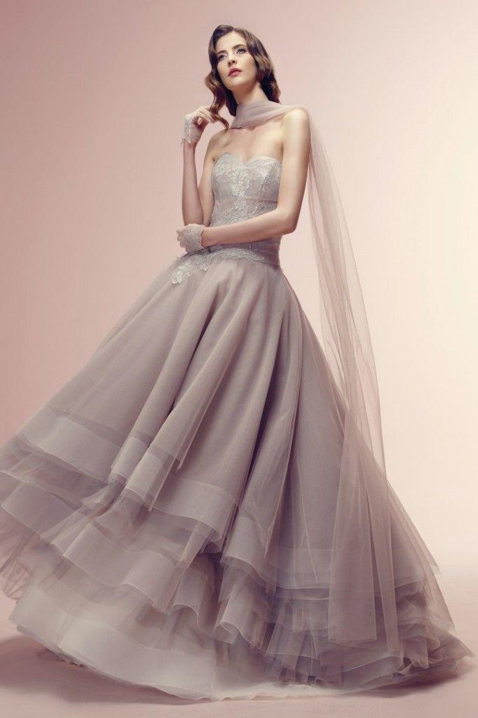 Vestidos de noiva em cinza e prata - Alessandra Rinaudo #casarcomgosto