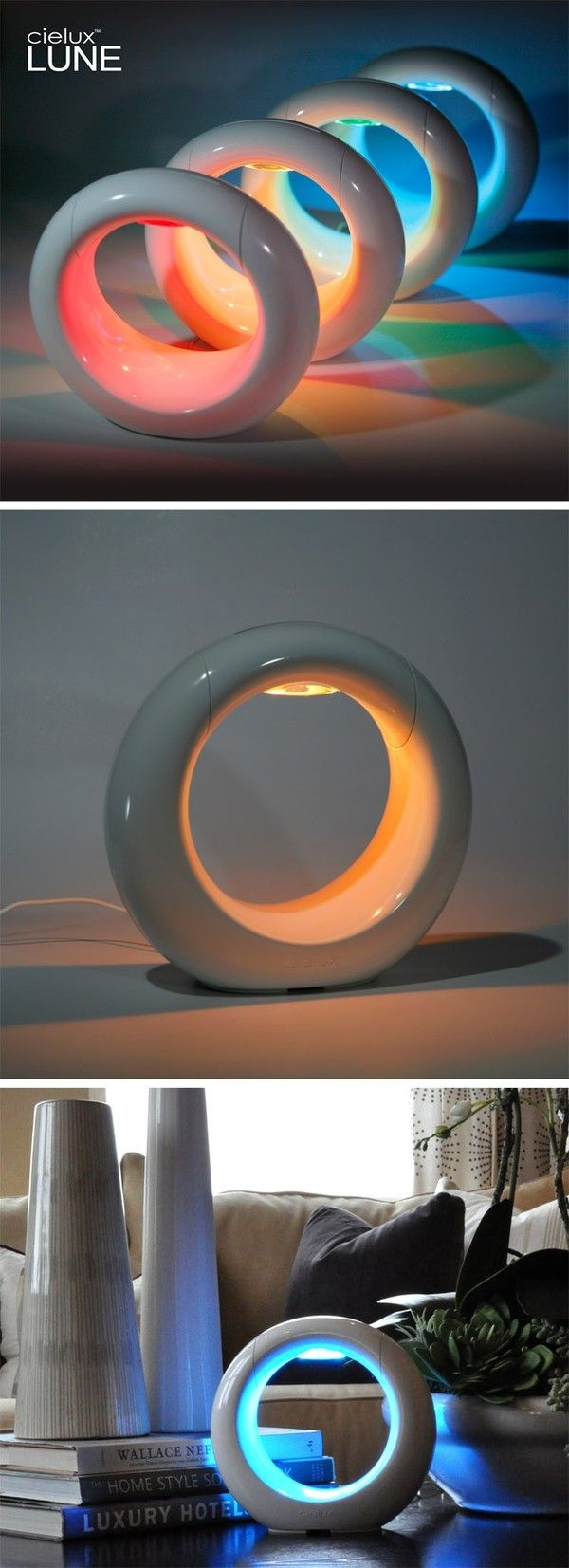 Futuristic Lamp, Cielux LUNE Touch Controlled Color Changing RGB LED Mood Light, Futuristic Interior