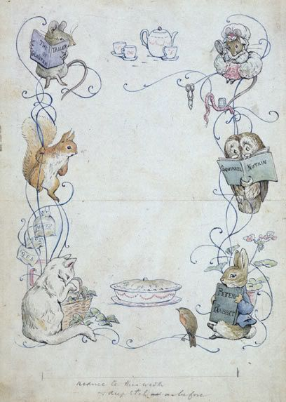 We love the illustrations by Beatrix Potter Find classic children shoes on www.menthe-et-grenadine.com