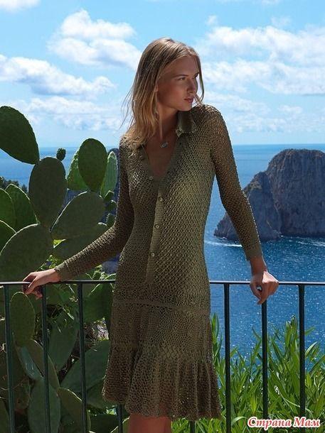 Добрый день! Открываем сегодня он- лайн по вязанию оригинального и достаточно нового платья, всеми любимой нами Джованны Диас!