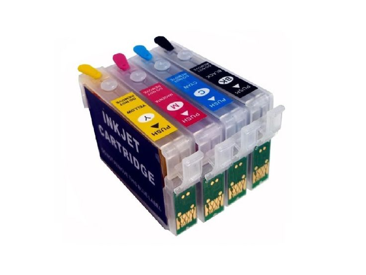 4 Pack Epson T126 Empty Refillable Ink Cartridge