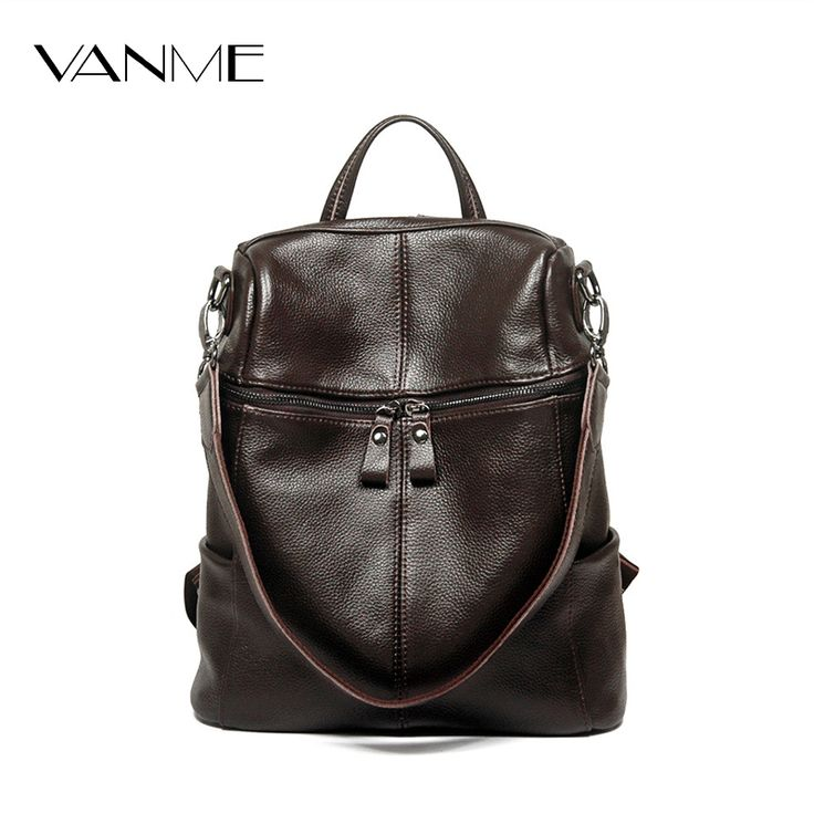 Genuine Leather Shoulder Bag Women Travel Backpack Brand Notebook Rucksack Design Women Waterproof Laptop Backpack Computer Bag