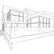 Haus architektur skizze