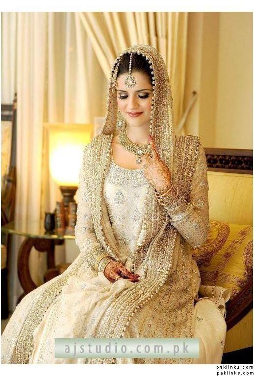 Bunto Kazmi ivory bridal. gorgeous!