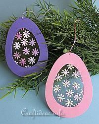 Easter Craft for Kids - Transparent Easter Egg Window Decoration #crafts