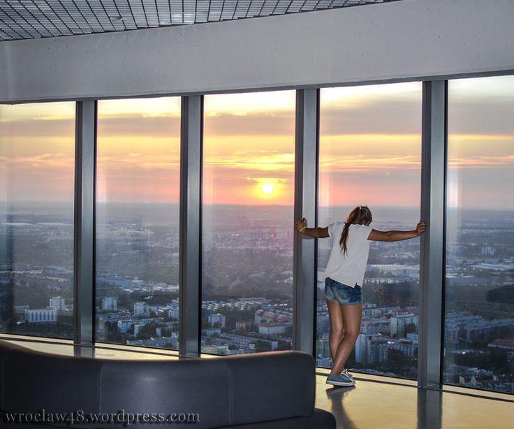 Wrocław wieża widokowa Sky Tower #skytower #wrocław #wrocław48 #tower #polska