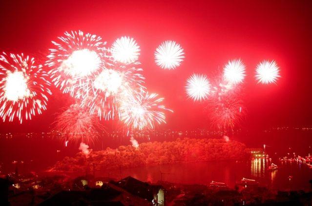 San Giovanni fireworks at Sala Comacina
