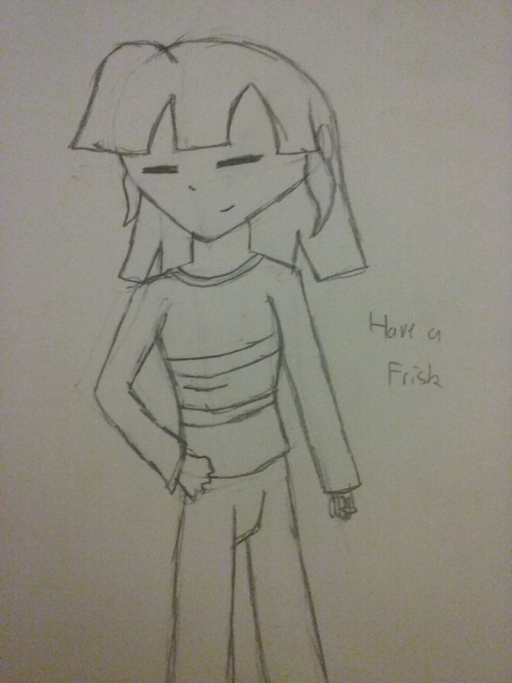 I drawed a Frisk a bit older dan usual. Looks cute, me post. Hope you like it