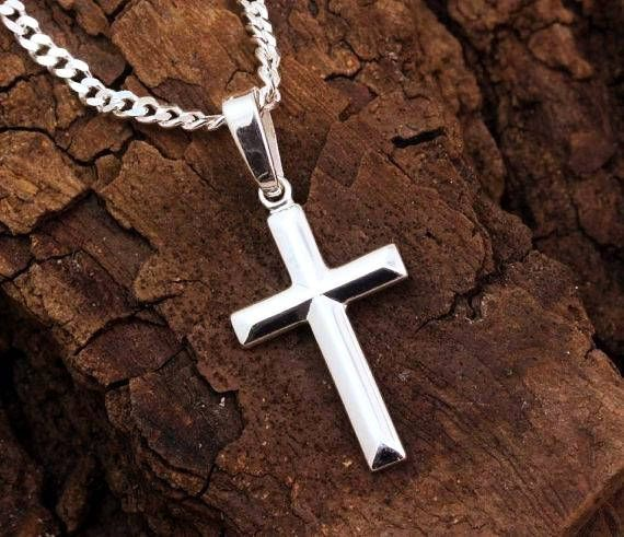Jewels By Lux Sterling Silver Womens Mens Unisex Cross Religious Fashion Charm Pendant