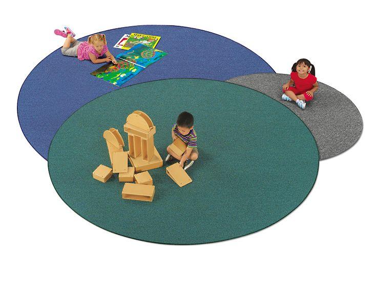 Blue Round Carpet   9u0027