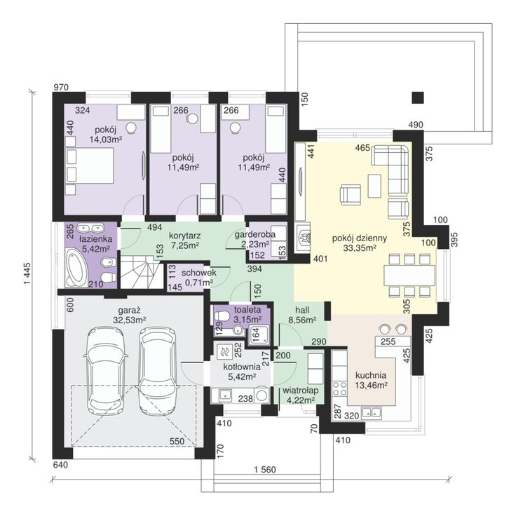 DOM.PL™ - Projekt domu Dom przy Pastelowej 2 CE - DOM EB3-99 - gotowy projekt domu