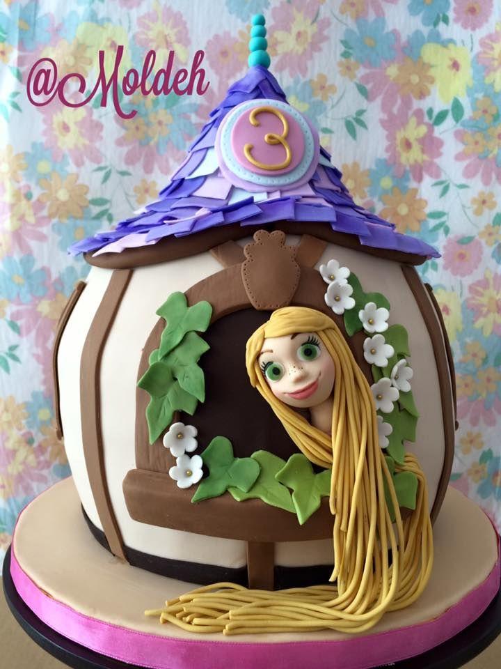 Pastel de Rapunzel para Cumpleaños 3 // Rapunzel's 3rd Birthday cake