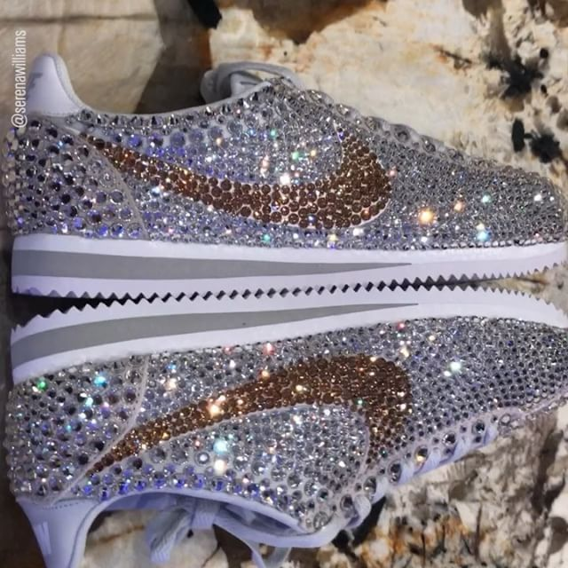 How amazing are @serenawilliams bedazzled @nike wedding sneakers?!  Designer @merakimishell told us all about how Serenas vision came to life at the last minute: I worked non-stop for 24 hours to get them done and overnighted them and she had them the next day (on the morning of her wedding!). Read the exclusive story at http://ift.tt/2jfIOGp now! via WOMEN'S HEALTH MAGAZINE OFFICIAL INSTAGRAM - Celebrity  Fashion  Health  Advertising  Culture  Beauty  Editorial Photography  Magazine Covers…