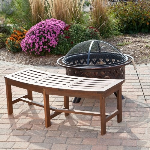 Curved Outdoor Bench