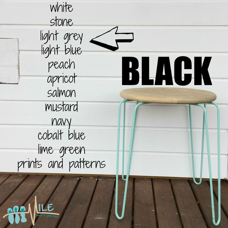 Black goes with...