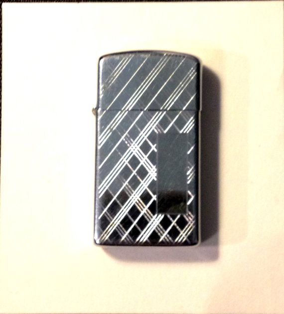 SALE Working  Zippo Slim Lighter w/ Plaid Design by TheLeafery, $17.00