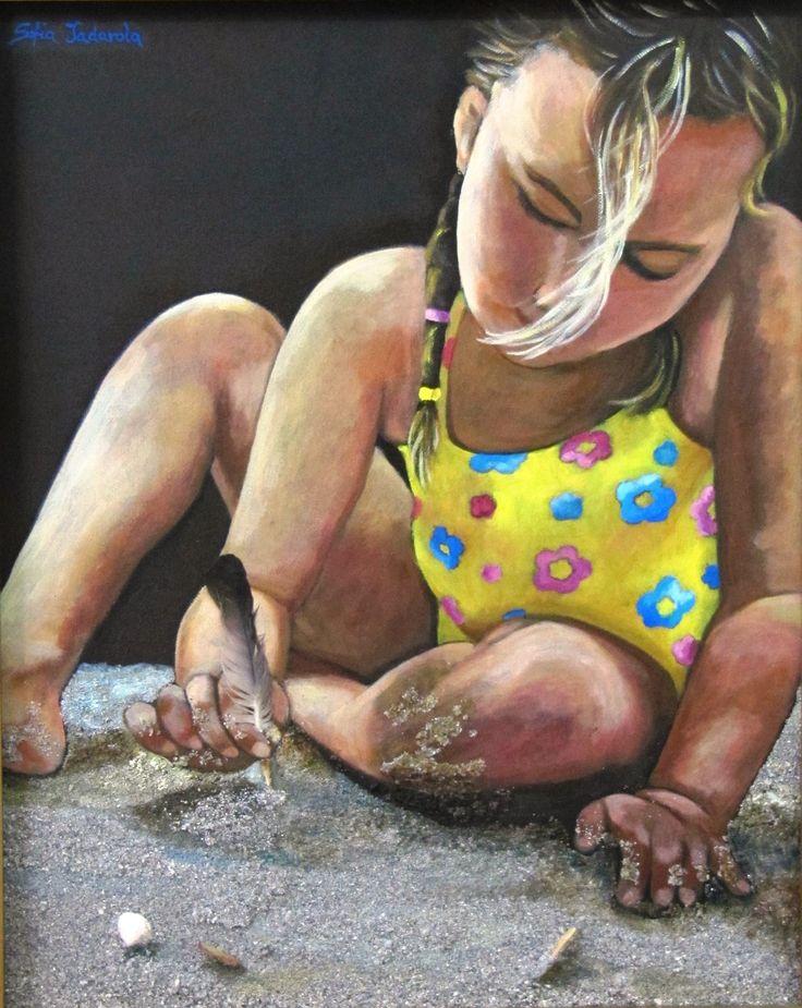 CONTRATTO CON LA NATURA olio e sabbia su tela (40 x 50)
