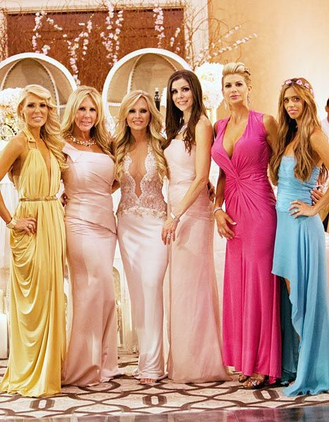 All of Barney's Real Housewives of Orange County castmates attended the wedding, with Vicki Gunvalson and Heather Dubrow serving as bridesmaids.