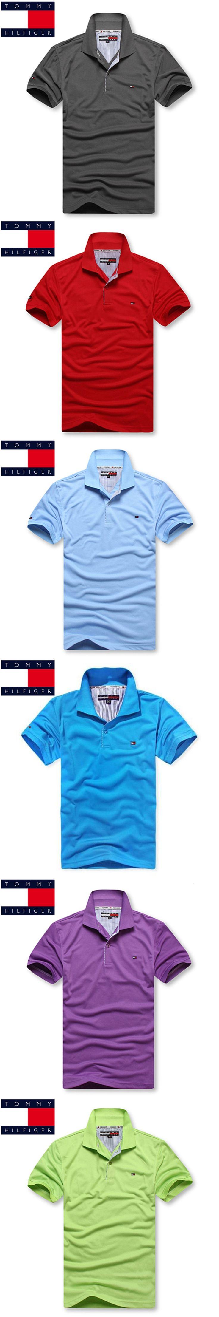 TOMMY HILFIGER Brand New Men's Polo Shirt For Men Desiger Polos Men Short Sleeve shirt clothes jerseys golftennis Plus Size