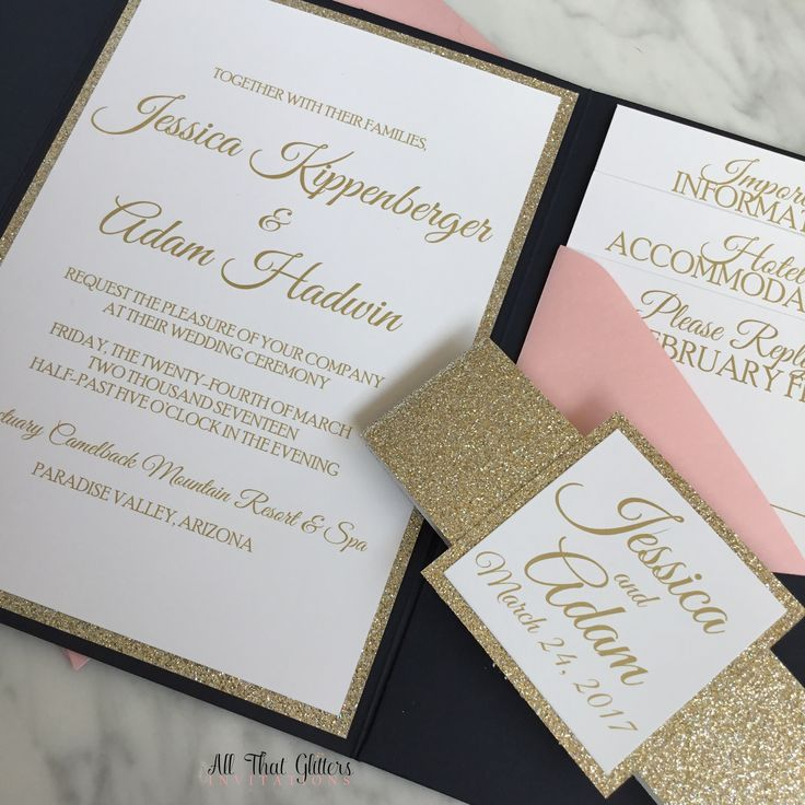 wording for wedding invites evening%0A How stunning is this navy and gold and rose quartz wedding invitation    Jessica chose