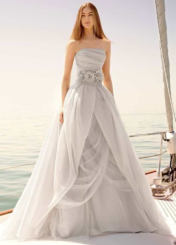 David's Bridal Sterling Ball Gown Style Wedding Dress!