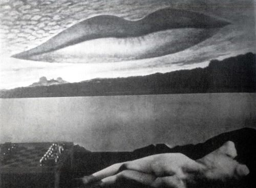Observatory Time: The Lovers - A l'Heure de l'observatoire: Les amoureux  by Man Ray 1938