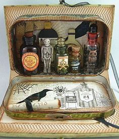 Alpha Stamps creativity - apothecary out of an Altoids tin.