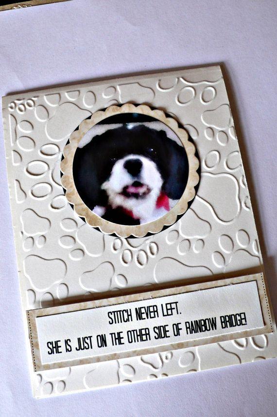 Pet Sympathy cards Dog sympathy card cat by NirvanaCardsnCrafts
