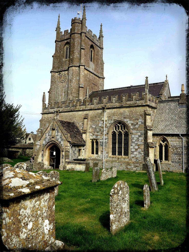 Church at Averbury standing stones - England