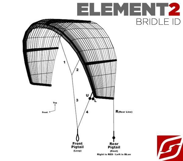 Element2 Bridle Complete - Bridles - Kite - Spare Parts