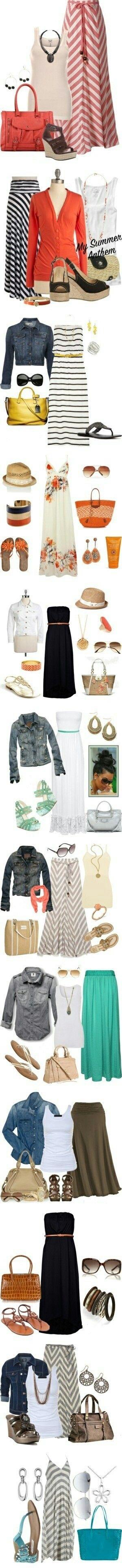 Meest ideale zomer outfit; lange jurk of rok. Staat mooi als je lang bent. Hier kan je mij in uittekenen ;)