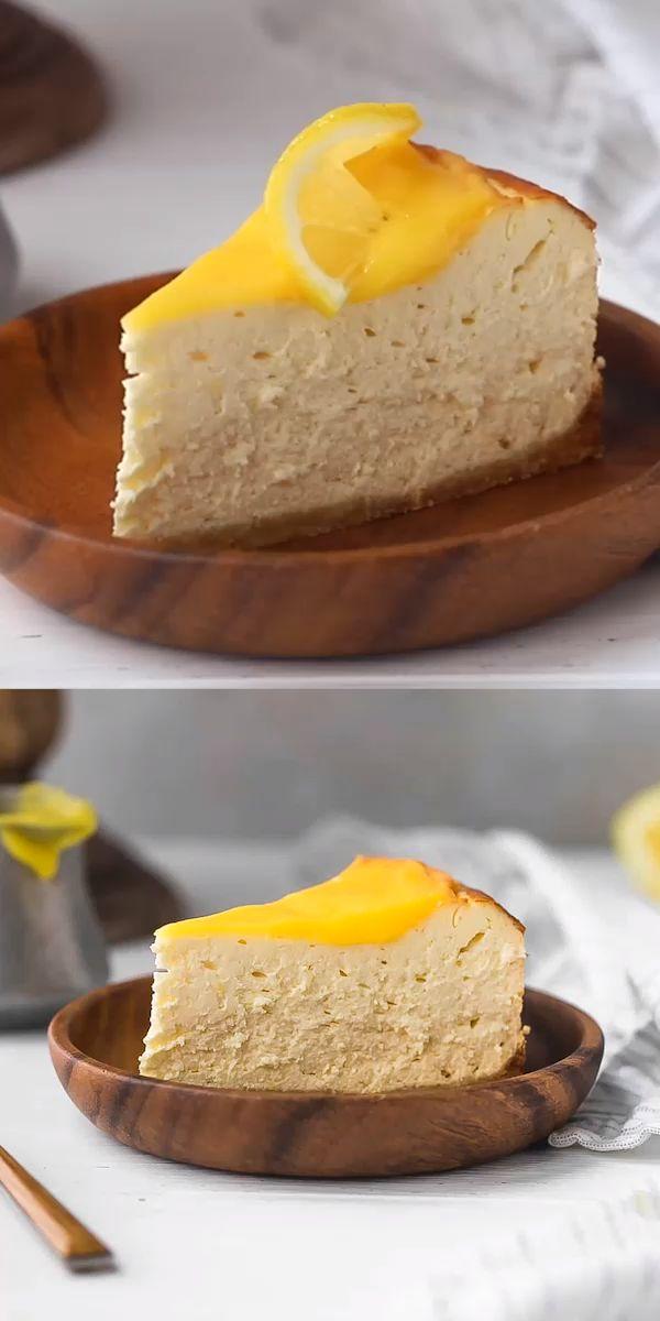 Zitronen-Keto-Käsekuchen-Rezept, kohlenhydratarm, zuckerfrei, glutenfrei