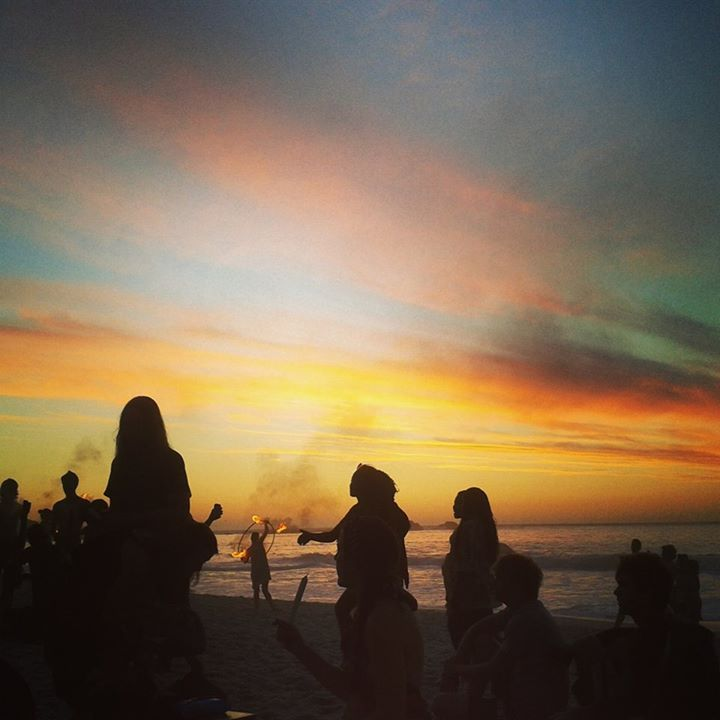 Clifton Beach during one of the epic Fire Arts evenings.   #flowarts #poi #travel #sunset