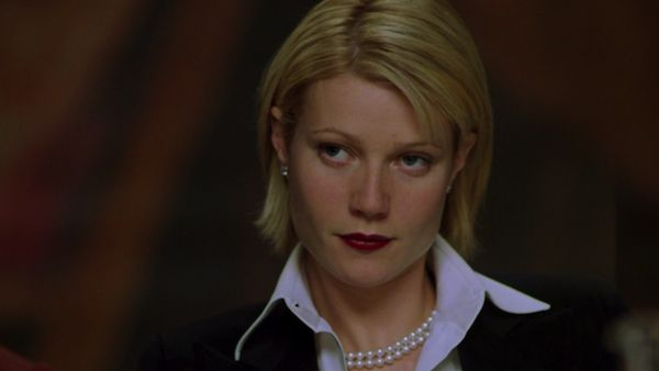 """Red lips, pearls, diamond studs and understated clothes. Perfect Wardrobe in """"A Perfect Murder"""".**"""
