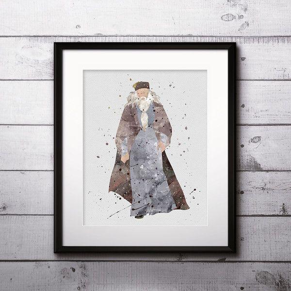 Wall Art – Albus Dumbledore Harry Potter Print Art Poster – a unique product by DigitalAquamarine on DaWanda