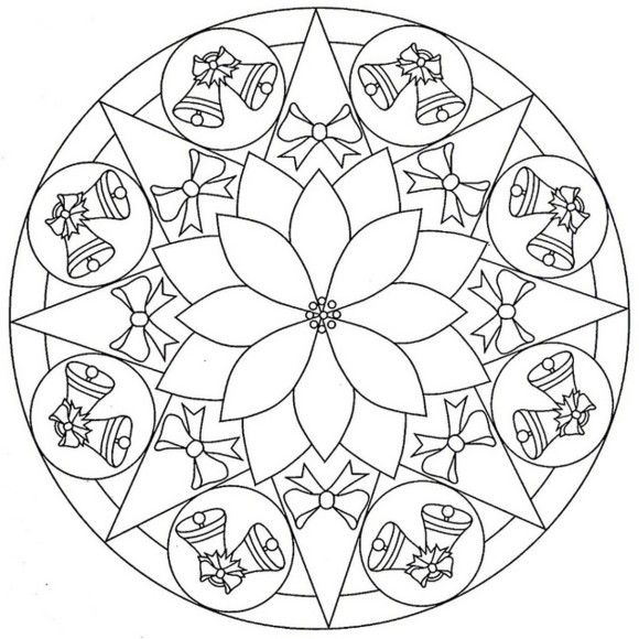 Bell Mandala Coloring Pages