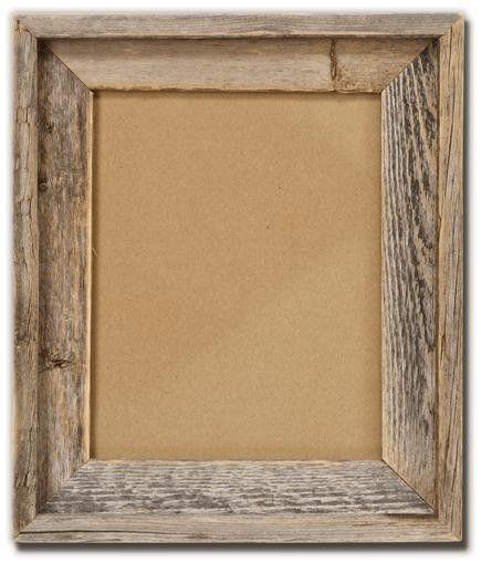 Love this rustic barnwood frame!