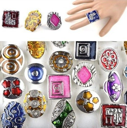 US $14.47Cheap ring body jewelry, Buy Quality hot navel rings directly from China ring size jewelry Suppliers: Hot Sale Fashion Lots 15 Platinum Plated Enamel Vintage Rings Jewelry [A04*15] Description